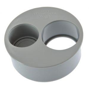 GIRPI Tampon de réduction operculé 2 piquages Mâle / Femelle - Diamètre 100 - 50 - 40 mm