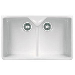 Franke 075784 - Evier Belfast 2 cuves en céramique