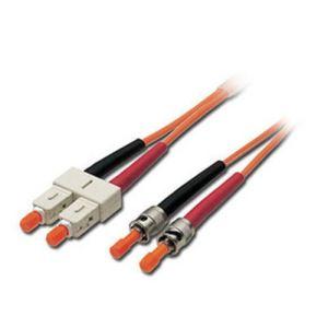 Lindy 46060 - Câble Fibre optique Duplex ST/SC 1 m.