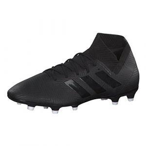 Adidas Nemeziz 18.3 FG, Chaussures de Football Homme, Noir (Negbás/Ftwbla 000), 43 1/3 EU