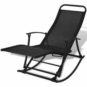 VidaXL Chaise à bascule pliable de jardin