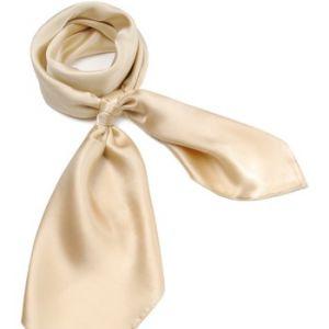Allée du foulard Carré de soie Premium Uni Beige