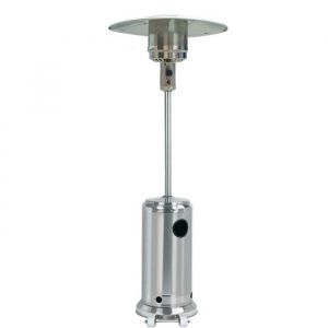 Silver Style Parasol chauffant à gaz - Inox - 5000 à 11000W pour une surface de 30 m² - Avec sécurité anti-basculement