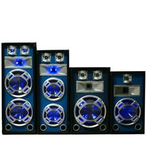"Skytronic Pack enceintes sono DJ 10"" 3 voies LED 800W"