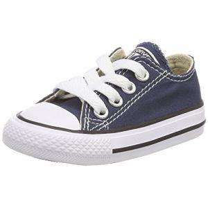Converse Chuck Taylor All Star Core Ox - Baskets, Unisexe, pour Enfant - Bleu (Marine) 32 1/9 EU