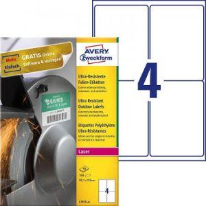 Avery-Zweckform L7915-40 - 160 étiquettes ultra-résistantes Laser blanches, format 99,1 x 139 mm (40 feuilles / cdt)