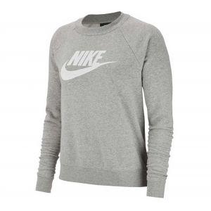 Nike Sweatshirts Sportswear Essential Crew Hbr - Dark Grey Heather / White - L