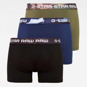 G-Star Raw Vêtements intérieurs Gstar Classic Camo 3 Pack - Sage / Imperial Blue / Dark Black - XL
