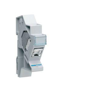 Hager Connecteur RJ45 cat.6 + support modulaire pour grade 2TV (TN007S)