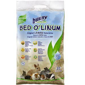 Bunny business Bed O' Linum - Litière en lin pour rongeur 35 L