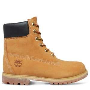 "Timberland 6"" Premium Boot - W, Chaussures Montantes Femme - Jaune (Wheat Waterbuck) 39 EU"