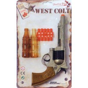 Edison Giocattoli Revolver West Colt avec cibles et amorces 8 coups 28 cm