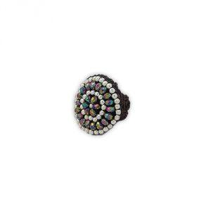 Blue Pearls Nub 3407 E - Bague ajustable avec perles Argentes et cristal