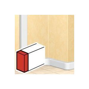 Legrand Embout gauche ou droit - DLP mono 50x105 couv 85 - blanc
