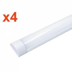 Silamp Réglette LED 60W 150cm (Pack de 4) - couleur eclairage : Blanc Neutre 4000K - 5500K