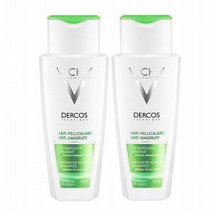 Vichy Dercos - Shampoing anti-pelliculaire pour cheveux normaux à gras (lot 2)