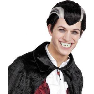 Perruque vampire noire et blanche adulte