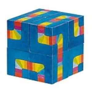Goki 57668 - Puzzle de cubes Le labyrinthe des couleurs (8 cubes)