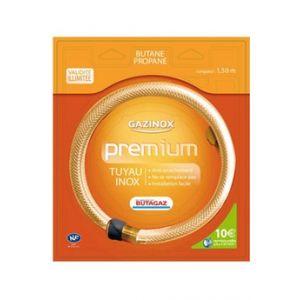 Gazinox Tuyau de Gaz Butane Propane Premium illimité 1,5m