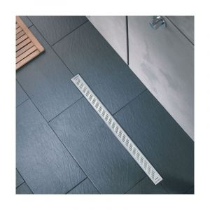 Wirquin Caniveau de douche Express'eau - 800 mm - Grille trait
