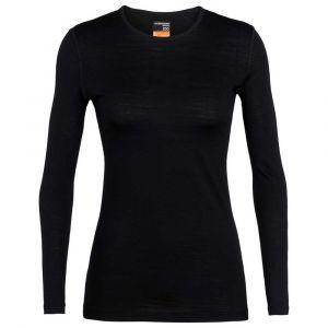 Icebreaker Women´s 200 Oasis L/S Crewe - Sous-vêtement mérinos taille XL, noir