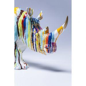 Kare Design Statue Déco Rhinocéros multicouleur