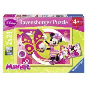 Ravensburger Puzzle Une Journée avec Minnie 2 x 24 pièces