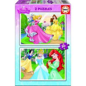 Educa Princesses Disney - Puzzle 2 x 20 pièces