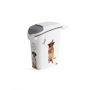 Image de Curver Conteneur à croquettes empilable Love pets 10 Kg - Blanc - Pour chien