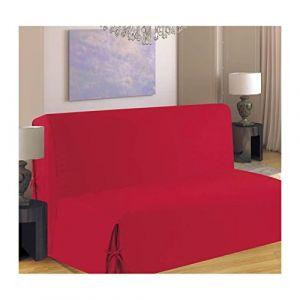 Homemaison Housse de canapé BZ 140x190 cm rouge