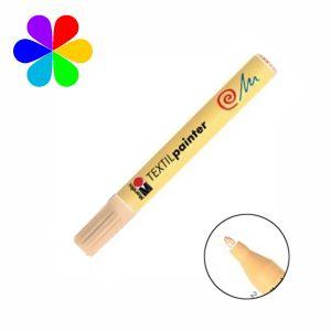 Marabu 011703029 - Marqueur pour tissu Textil Painter, marron clair, pointe ogive 2-4 mm