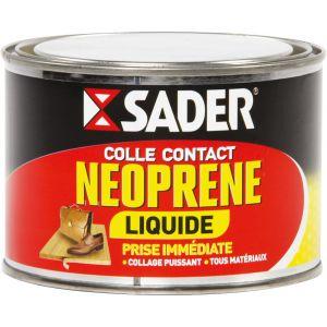 Sader Colle néoprène liquide (boite en métal de 250 ml) - Format : Boite en métal de 250 ml