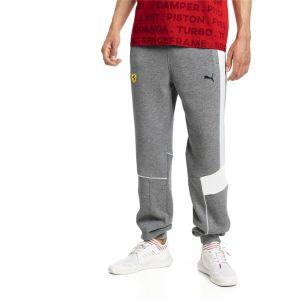 Puma Pantalon en sweat en maille Ferrari pour Homme, Gris/Bruyère, Taille 0130 |