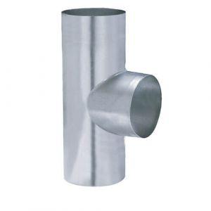 Isotip Joncoux Té 90° en acier galvanisé - D125 mm