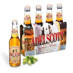 Adelscott Pack de 4 Bières aromatisées au malt de whisky 5,8° - 33 cl