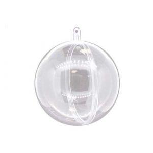 PW International Lot de 5 boules en plastique cristal à décorer, diamètre 80mm qualite alimentaire