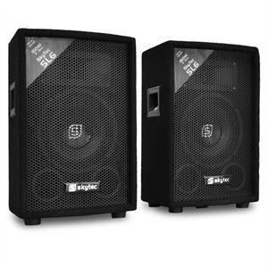 Skytec Paire d'enceintes passives sono DJ PA 15 cm 2x 150W
