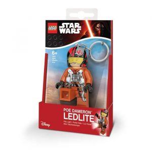 Lego Star Wars Porte-clés LED PŒ Dameron - Pieds lumineux - Eclairage multidirectionnelle - 4,5 X 2,4 X 7,83 cm