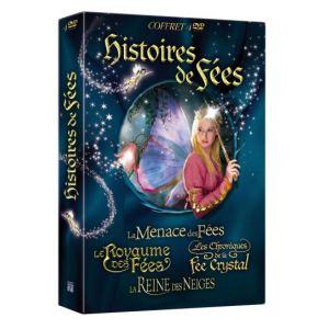 Coffret Histoires de Fées - La menace des fées + Le Royaume des fées + Les Chroniques de la fée Crystal + La Reine des neiges