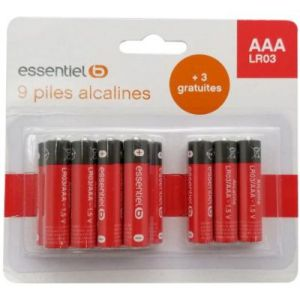 EssentielB Pile 9+3 AAA LR03