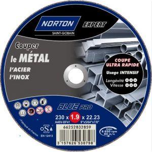 Norton clipper Disque à tronçonner blue Pro 200 métal 230x2x22.2-Norton Domauto