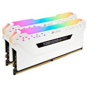 Corsair DDR4 Vengeance RGB PRO, Blanc, 2 x 8 Go, 3000 MHz, CAS 15