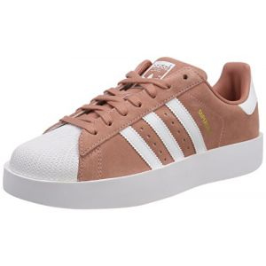 Adidas Superstar Bold, Baskets Femme, Rose (Ash Pink/Footwear White/Gold Metallic 0), 40 2/3 EU