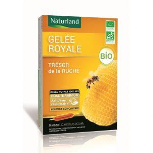 Naturland Gelée royale bio en format 20 x 10 ml et 25 % gratuits