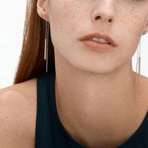 SKAGEN Boucles d'oreilles SKJ1079998 - Boucles d'oreilles Acier Argentées Dorées Rose Femme