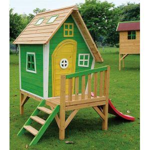 Exit Toys Fantasia 300 - Maisonnette en bois pour enfant sur pilotis avec toboggan