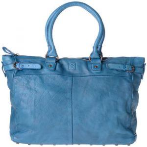 Dudu Sac pour femme en cuir lavé teinté produit fini avec clous Agata Blue