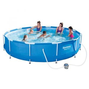 Bestway Kit Piscine ronde tubulaire Ø3,66 x H1,00m - Détendez vous dans ce kit piscine complet avec filtration et échelle