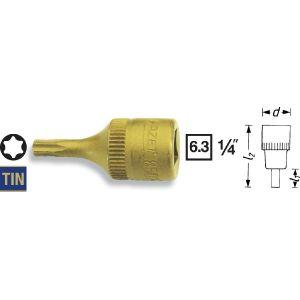 """Hazet 8502-T40 - Douille Torx 6.3 mm 1/4"""" T40"""
