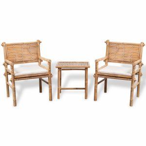 VidaXL Jeu de mobilier jardin 5 pièces en bambou